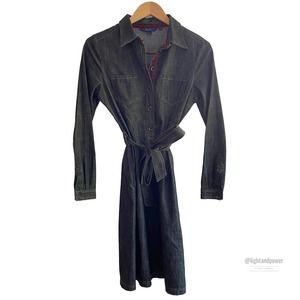 Boden Black Denim Shirtdress8/10 MEUC